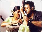 Abirami and Kamal Haasan