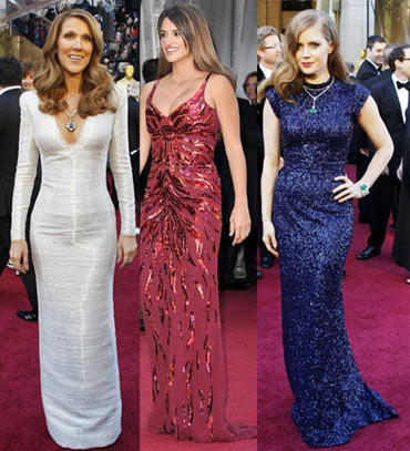Celine Dion, Penelope Cruz and Amy Adams