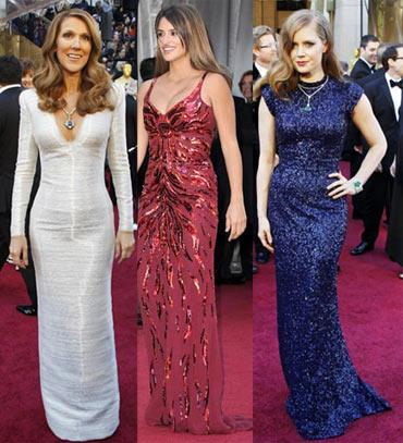Celine Dion, Penelope Cruz and Amy Adams