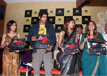 Rana Daggubati and Ileana at the launch of her boutique