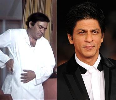 Sanjeev Kumar and Shah Rukh Khan