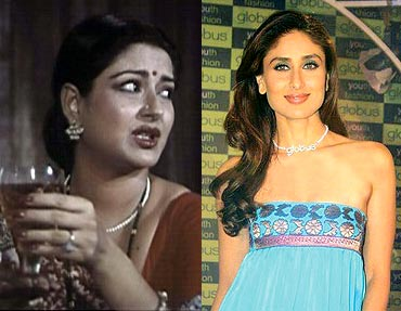 Moushumi Chaterjee and Kareena Kapoor