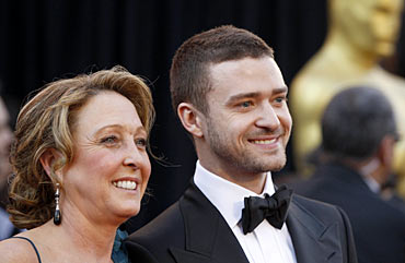 Lynn Harless and Justin Timberlake